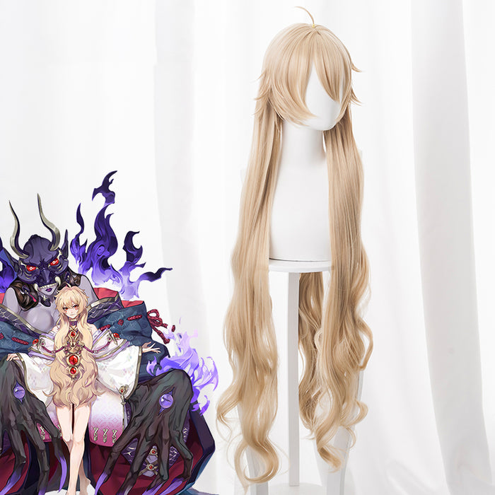 Game Onmyoji 100cm Long Blonde Curly Wavy Cosplay Wig Cosplay for Girls Adult Women Halloween Carnival Party