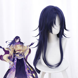 Game Onmyoji Yamata no Orochi 65cm Dark Purple Wavy Cosplay Wig Cosplay for Girls Adult Women Halloween Carnival Party