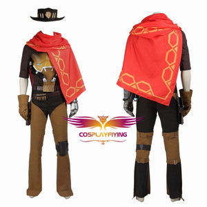 Game Overwatch Jesse Mccree Cosplay Costume Full Set for Halloween Carnival