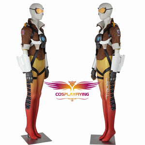 Game Overwatch OW Tracer Lena Oxton Nanosuit Cosplay Costume Women Uniform Outfit Cloth Adult Halloween Carnival