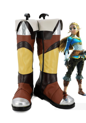 "Game The Legend of Zelda ""Princess"" Zelda Tetra Cosplay Shoes Boots Custom Made for Adult Men and Women Halloween Carnival"
