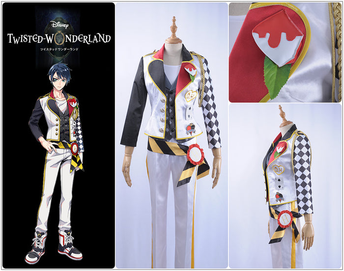 Game Twisted-Wonderland Alice in Wonderland Deuce Spade Cosplay Costume Male Uniform Outfit
