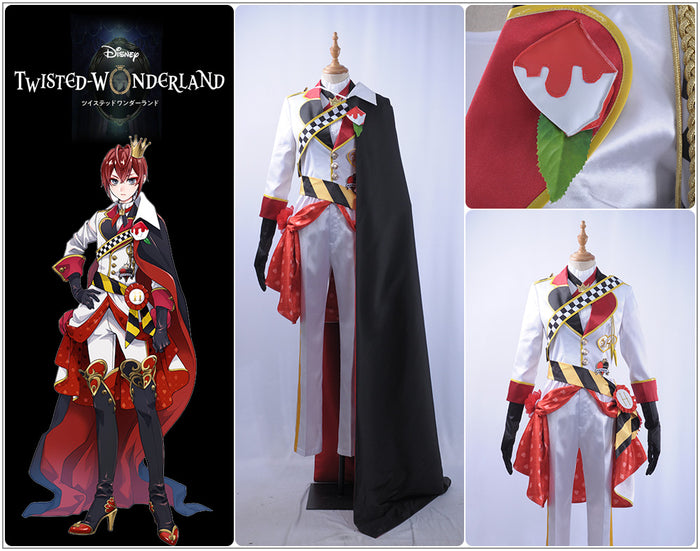 Game Twisted-Wonderland Alice in Wonderland Riddle Rosehearts Cosplay Costume Male Uniform Outfit