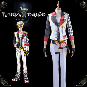 Game Twisted-Wonderland Alice in Wonderland Trey Clover Cosplay Costume Male Uniform Outfit