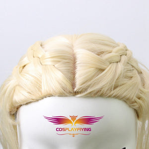 Game of Thrones Dragon of Mother Daenerys Targaryen Long Wavy Cosplay Wig Cosplay Prop for Girls Adult Women Halloween Carnival Party