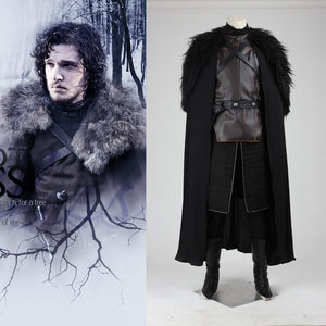 Game of Thrones Jon Snow Night's Watch Cosplay Costume Full Set for Halloween Carnival