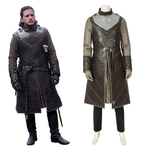 Game of Thrones Season 7 Jon Snow Cosplay Costume Full Set with Armor for Halloween Carnival