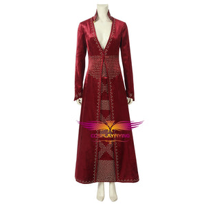 Game of Thrones Season 8 Cersei Lannister Queen Suit Full Set Cosplay Costume for Halloween Carnival