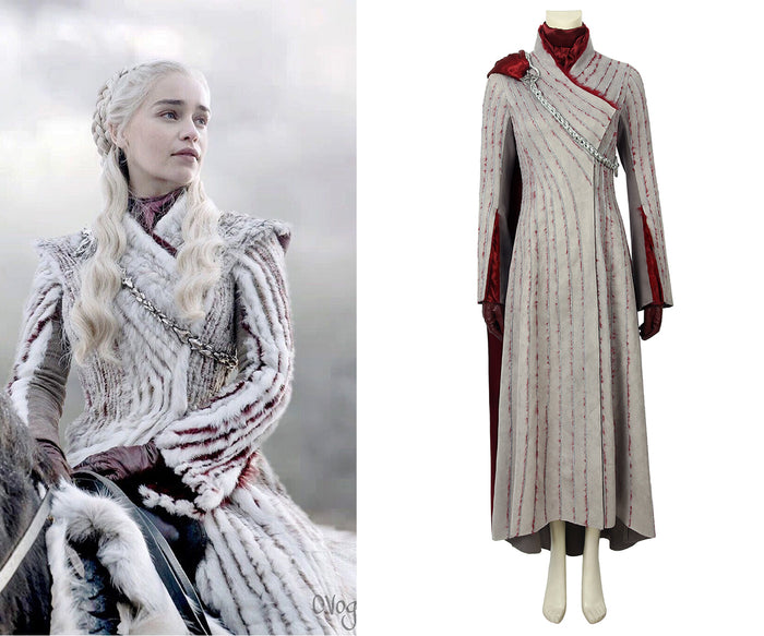 Game of Thrones Season 8 Daenerys Targaryen Mother of Dragon Full Set Cosplay Costume for Halloween Carnival