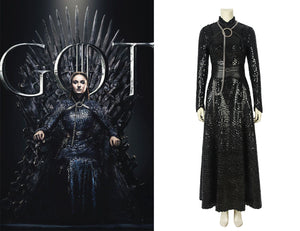 Game of Thrones Season 8 Sansa Stark Lady Of Winterfell Cosplay Costume Version B for Halloween Carnival