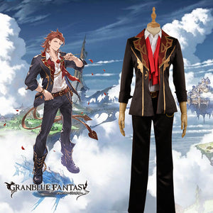 Granblue Fantasy The Dragon Knights Entei Cosplay Costume Men Fashion Outfit