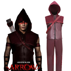 Green Arrow DC Comics Superhero Red Arrow Roy Harper Battleframe Cosplay Costume