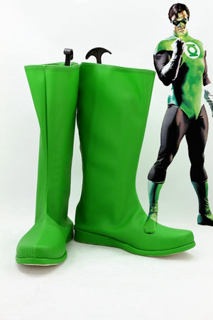 Green Lantern Hal Jordan Cosplay Shoes Boots Custom Made for Adult Men and Women