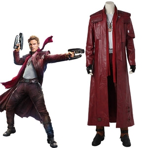 Marvel Comics Guardians of the Galaxy 2 Star Lord Peter Jason Quill Cosplay Costume for Halloween Carnival without Boots