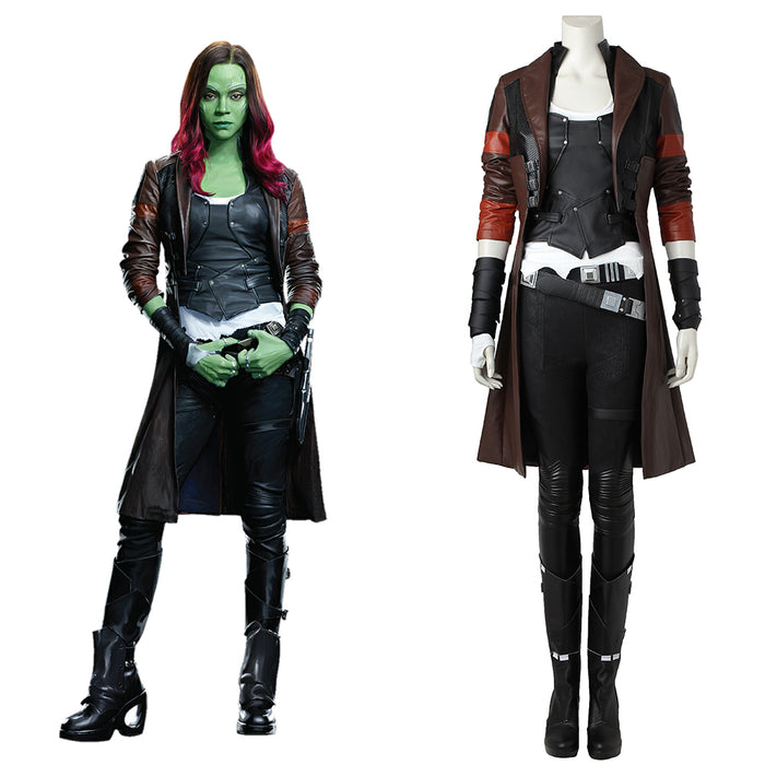 Marvel Comics Guardians of the Galaxy 2 Gamora Adult Women Cosplay Costume Outfit for Halloween Carnival