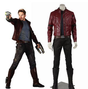 Marvel Comics Guardians of the Galaxy Star Lord Peter Jason Quill Jaket Adult Men Cosplay Costume Full Set for Halloween Carnival