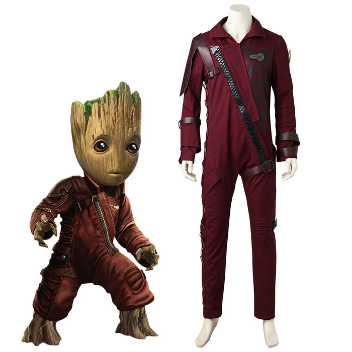 Marvel Comics Guardians of the Galaxy 2 Baby Groot Fancy Suit Cosplay Costume Full Set for Halloween Carnival