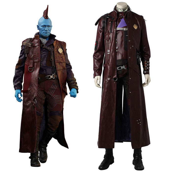 Marvel Comics Guardians of the Galaxy 2 Captain Yondu Cosplay Costume Battle Suit Full Set for Halloween Carnival