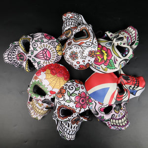 Halloween 2019 Mexican Day of the Dead Skull Print Masks Perform Masquerade Bar Party Mask Cosplay Accessory&Props