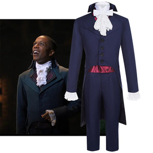 Hamilton Musical Aaron Burr Cosplay Costume Dark Blue Uniform for Concert Carnival Halloween