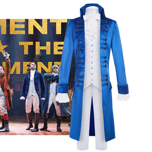 Hamilton Musical Alexandar Hamilton Cosplay Costume Blue Uniform for Concert Carnival Halloween