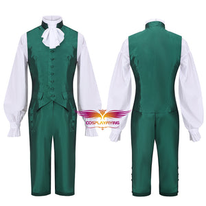Hamilton Musical Alexander Hamilton Cosplay Costume Green Uniform Carnival Halloween