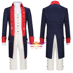 Hamilton Musical Alexander Hamilton Red Stage Uniform Concert Cosplay Costume Carnival Halloween Version B
