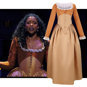 Hamilton Musical Angelica Brown Stage Dress Concert Cosplay Costume Version B Carnival Halloween