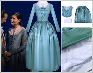 Hamilton Musical Elizabeth Schuyler Blue Stage Concert Dress Cosplay Costume Carnival Halloween