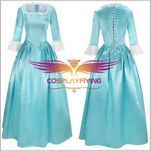 Hamilton Musical Elizabeth Schuyler Light Blue Dress Cosplay Costume Carnival Halloween