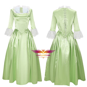 Hamilton Musical Elizabeth Schuyler Light Green Dress Concert Cosplay Costume Carnival Halloween