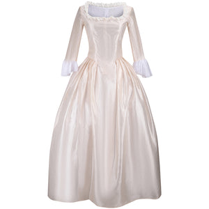 Hamilton Musical Elizabeth Schuyler White Stage Dress Concert Cosplay Costume Carnival Halloween