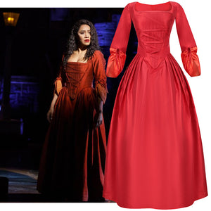Hamilton Musical Maria Reynolds Red Stage Dress Concert Cosplay Costume Carnival Halloween