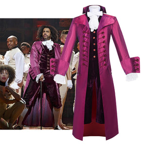 Hamilton Musical Thomas Jefferson Marquis de Lafayette Cosplay Costume Purple Uniform Carnival Halloween