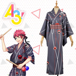 Hand Tour A3! Act!Addict!Actors! Summer Troupe Adult Taichi Nanao Kimono Yutaka Cosplay Costume Men Fashion Outfit