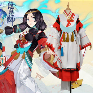Hand Tour Onmyoji SR Yao Bikuni Fancy Kimono Outfit Cosplay Costume For Adult