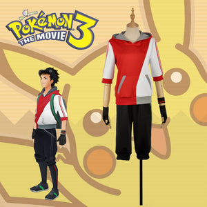Hand Tour Pokemon Go Red Trainers Cosplay Costume Clothing Outfit For Adult or Halloween Carnival