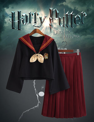 Harry Potter Hogwarts Gryffindor Slytherin Japanese JK Uniform Sailor Suit Halloween Carnival