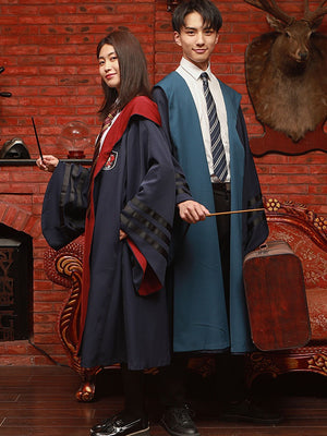 Fantastic Beasts and Where to Find Them Gryffindor Slytherin Ravenclaw Hufflepuff Robe Cloak+Tie Cosplay Costume Halloween Vintage Thick Version