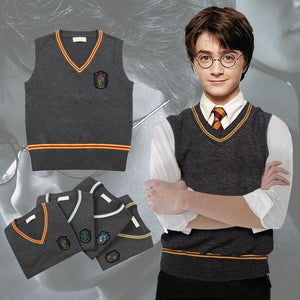 Harry Potter Hogwarts Gryffindor Slytherin Ravenclaw Hufflepuff Wizard Witch Vest Sweater Short Sleeve Halloween Carnival