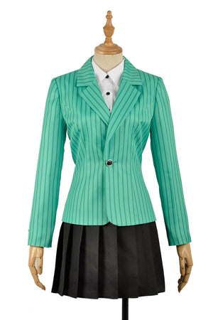 Heathers The Musical Rock Musical Heather Duke Stage Dress Concert Cosplay Costume Green Striated Jacket Women Fancy
