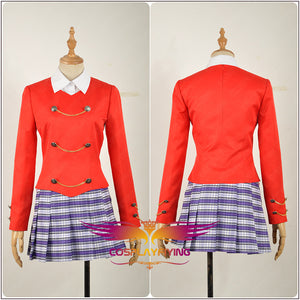 Heathers The Musical Rock Chandle Red Stage Uniform Dress Cosplay Costume