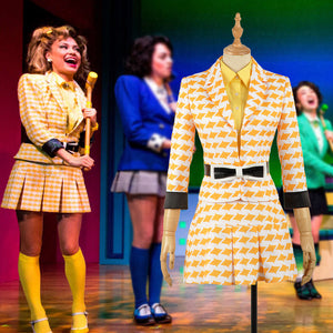 Heathers The Musical Rock Musical McNamara Stage Uniform Dress Concert Cosplay Costume Adult Women Yellow Skirt Fancy