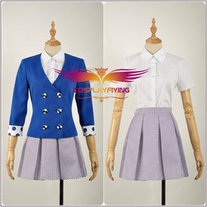 Heathers The Musical Rock Musical Veronica Sawyer Stage Dress Concert Cosplay Costume Adult Women Fancy Blue Jacket