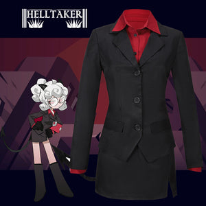 Helltaker Pandemonica the Tired Demon Cosplay Costume Halloween Carnival Party