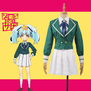 Horrible Anime ZOMBIE LAND SAGA Zonbii 6 Lily Hoshikawa Fancy Stage Girls Cosplay Costume for Carnival Halloween