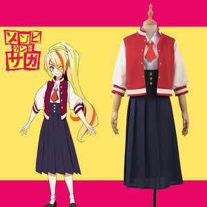 Horrible Anime ZOMBIE LAND SAGA Zonbii Ni-go Saki Nikaido Cosplay Costume for Carnival Halloween