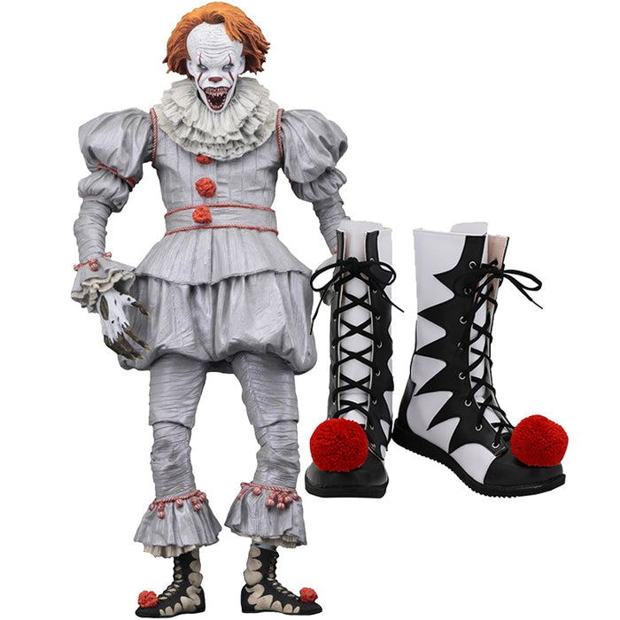 2019 New Horror Movie Stephen King's It Clown Joker Cosplay Shoes Boots Custom Made for Adult Men and Women Halloween Carnival