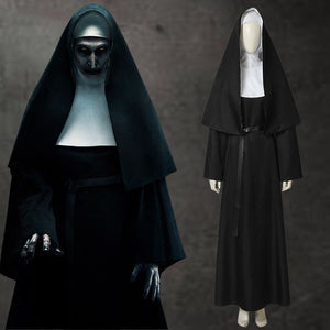 Horror The Conjuring The Nun Valak Demon Nun Cosplay Costume Full Set for Halloween Carnival