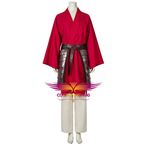 Disney Princess Mulan 2020 New Movie Cosplay Costume with Armor Accessories Full Set for Halloween Carnival